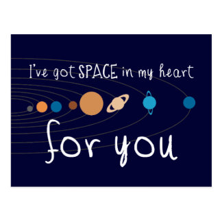 I've Got Space in my Heart for You Postcard
