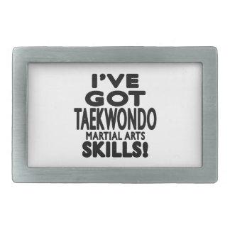 I've Got Taekwondo Martial Art Skills Rectangular Belt Buckles