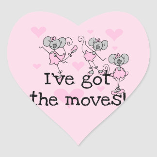I've Got the Moves Ballerina T-shirts and Gifts Heart Sticker