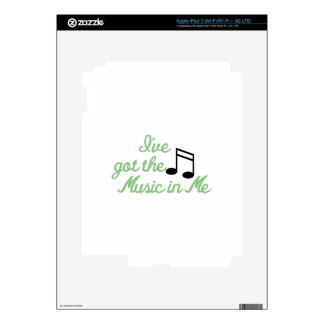 Ive Got the Music In Me Decals For iPad 3