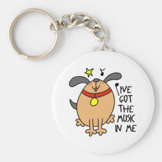 I've Got The Music In Me Funny Keychain