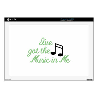 """Ive Got the Music In Me 17"""" Laptop Skin"""