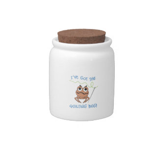 IVE GOT THE QUILTING BUG CANDY JARS