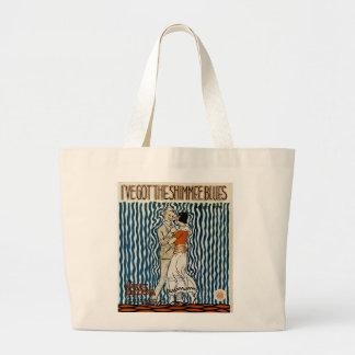 I've Got The Shimmie Blues Large Tote Bag