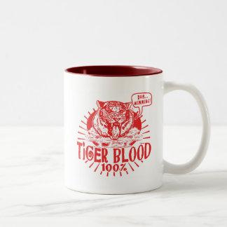 I've Got Tiger Blood Two-Tone Coffee Mug