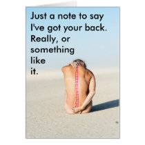 """I've Got Your Back"" any occasion spine card"