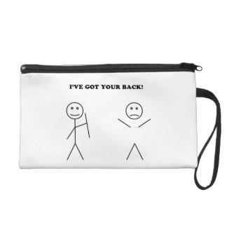 I've got your back wristlet purses
