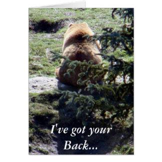 I've got your Back... Greeting Card