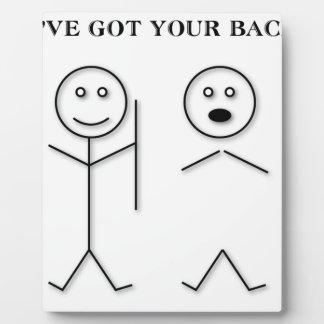 I've got your back plaque
