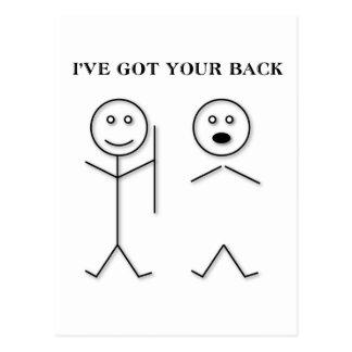 I've got your back postcard