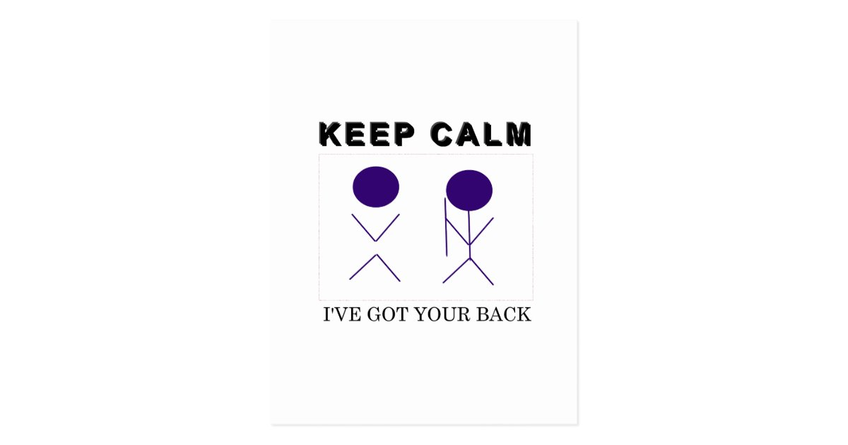 I'Ve Got Your Back Postcard | Zazzle.Com