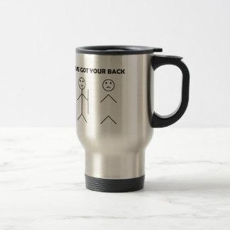 I've got your back - Stick figure Travel Mug