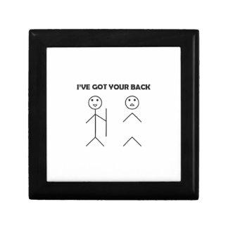 I've got your back-stick men keepsake box