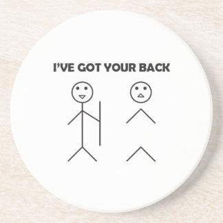 I've got your back-stick men sandstone coaster