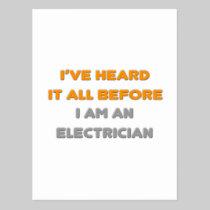 I've Heard It All Before .. Electrician Postcard