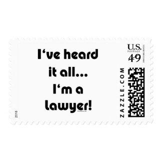 I've heard it...Lawyer Postage
