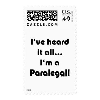 I've heard it...Paralegal Postage Stamps