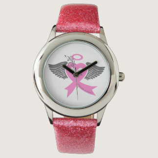 I've Held an Angel (Breast Cancer) Wristwatches