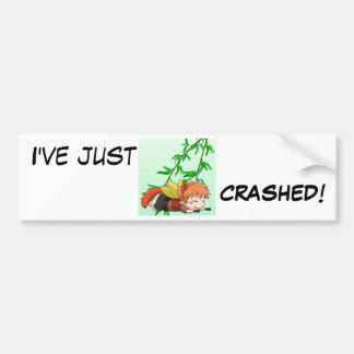 I've just Crashed Bumper Sticker