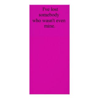 I'VE LOST SOMEBODY WHO WASN'T EVEN MINE SAD DEPRES RACK CARD