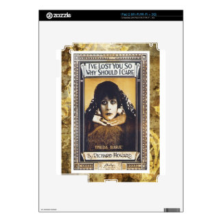 I've Lost You So Why Should I Care Vintage Music Skin For The iPad 2