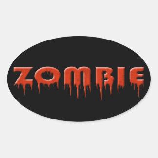 ¡ive mordido por un zombi! pegatinas ovales