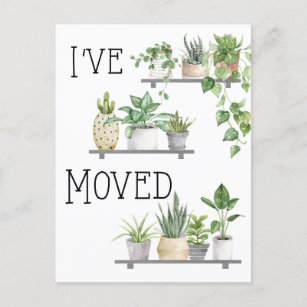 I Ve Moved Moving Announcement Postcard
