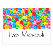 I've Moved/New Address , watercolor baubles Postcard