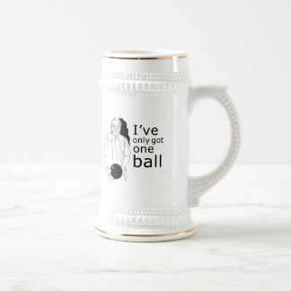 I'VE ONLY GOT ONE BALL T-shirt Coffee Mugs