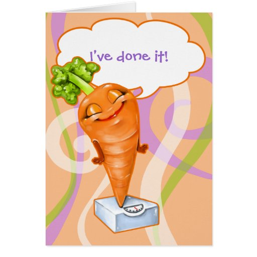 I've reached my weight loss goal!  Happy Carrot Stationery Note Card