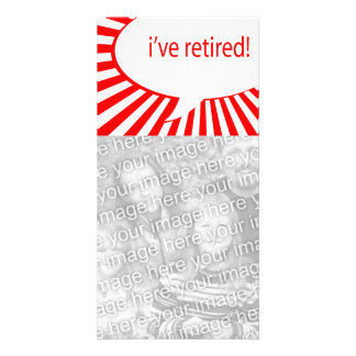 i've retired! (comic bubble) custom photo card