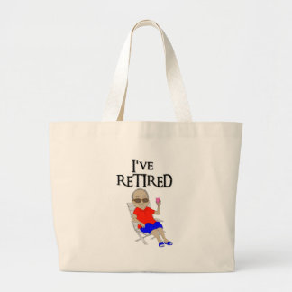 I've retired jumbo tote bag