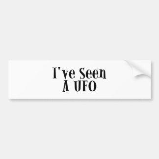 I've Seen A UFO Car Bumper Sticker