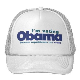 I've voting OBAMA Trucker Hat