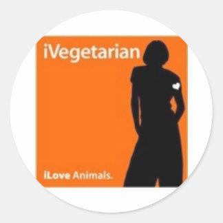 iVegetarian Round Sticker