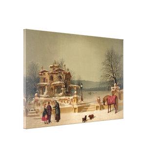"Ives ""American Winter Scene"" Canvas"