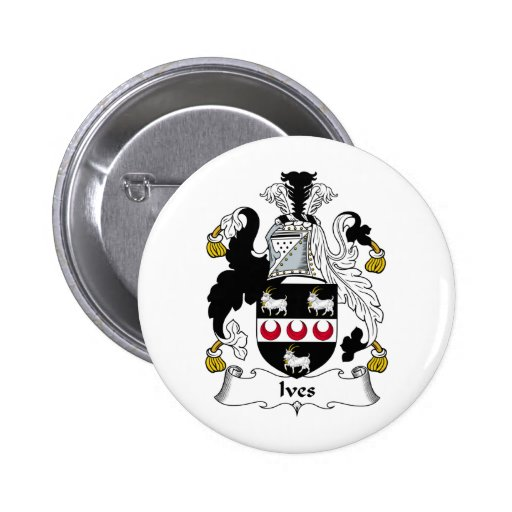 Ives Family Crest Buttons