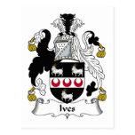 Ives Family Crest Postcard