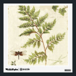 """Ivies and Ferns Wall Decal<br><div class=""""desc"""">&#169; Lisa Audit / Wild Apple.  An image showing ivies,  ferns,  and a dragonfly. There is a shadow of a butterfly on the off-white background.</div>"""