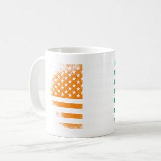 Ivorian American Flag   Ivory Coast and USA Design Coffee Mug