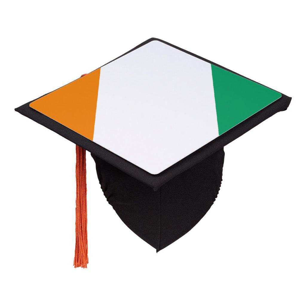 Ivorian flag graduation cap topper