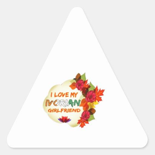 Ivorian Girlfriend designs Triangle Stickers