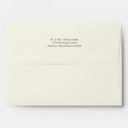 Ivory A7 Envelope 5x7 with return address