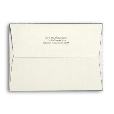 Toddler & Baby themed Ivory A7 Envelope 5x7 with return address