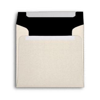 Ivory and Black Envelope