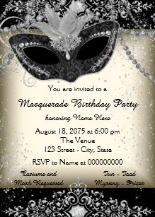 masquerade party invitations zazzle