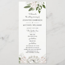 Ivory and Blush Wedding Sprigs Program