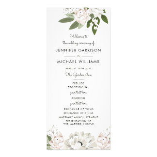 Ivory and Blush Wedding Sprigs Program