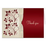 Ivory and Claret Thank You Card Cards