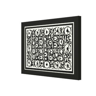 Ivory and Ebony Exotic Safari Geometric Canvas Print